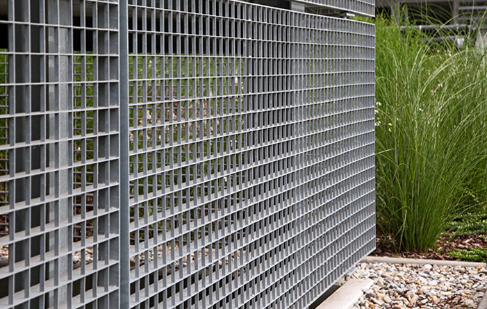Facade gratings for multi-storey car park